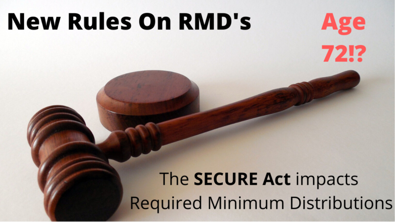 RMD rules have changed